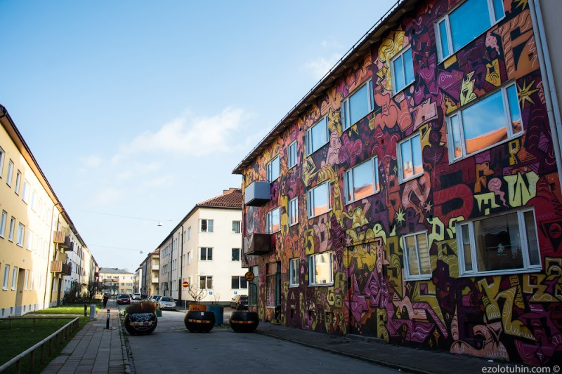 Как выглядит самый опасный город Швеции по мнению Первого канала. Посмотрел своими глазами.