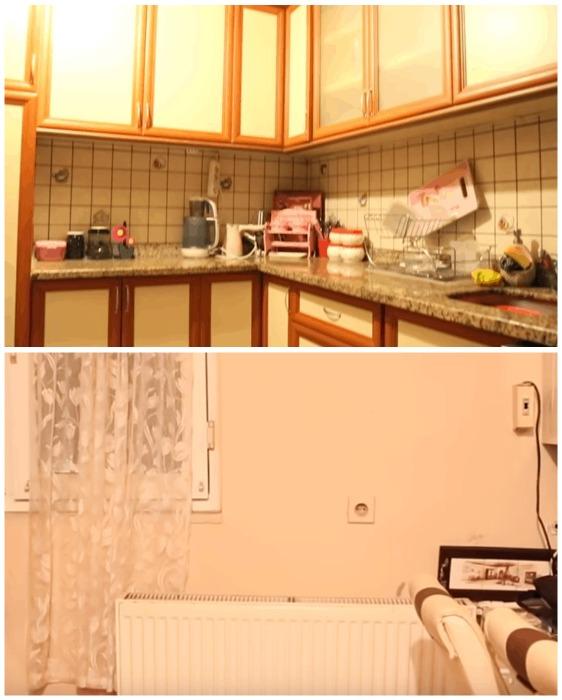 Студентки кардинально преобразили унылую кухни, располагая весьма скромным бюджетом бюджетный ремонт