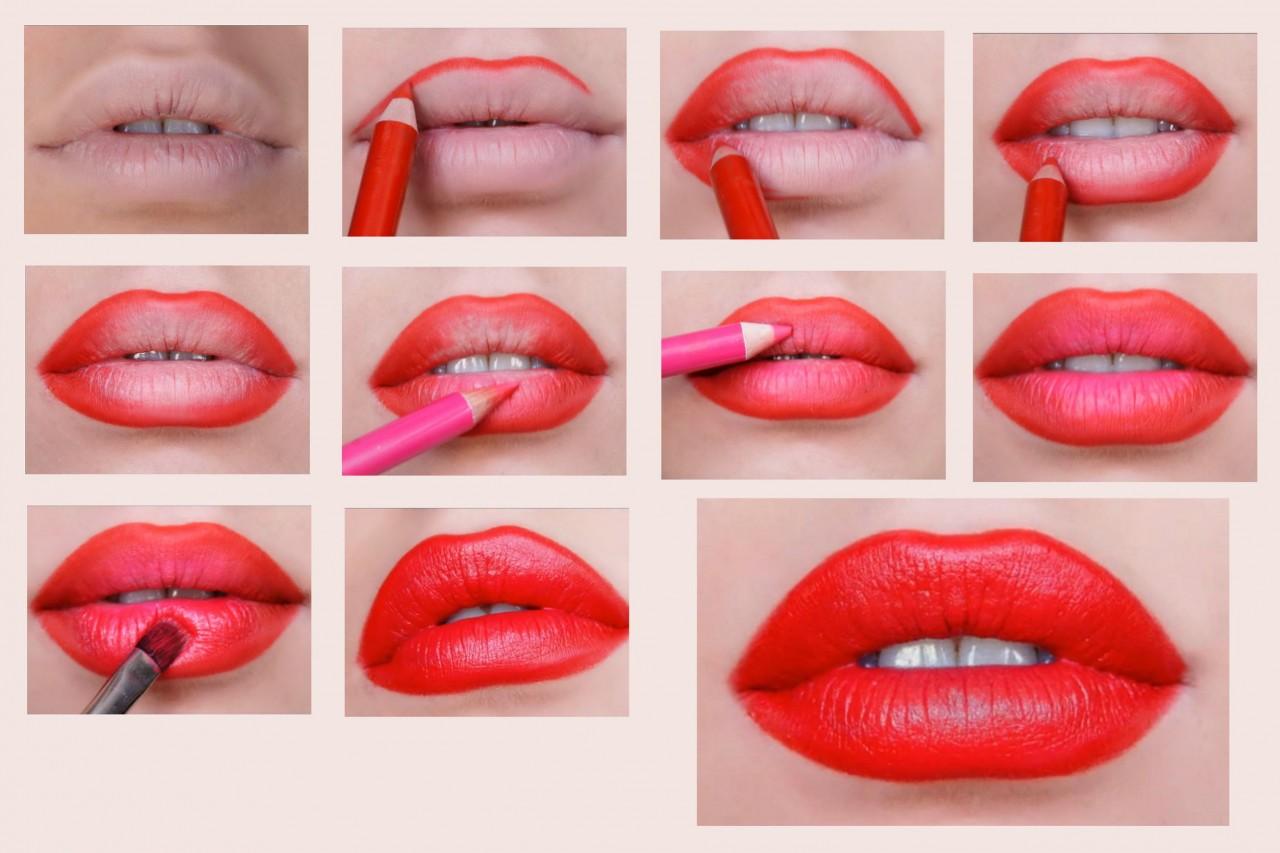 Как правильно наносить помаду? губная помада