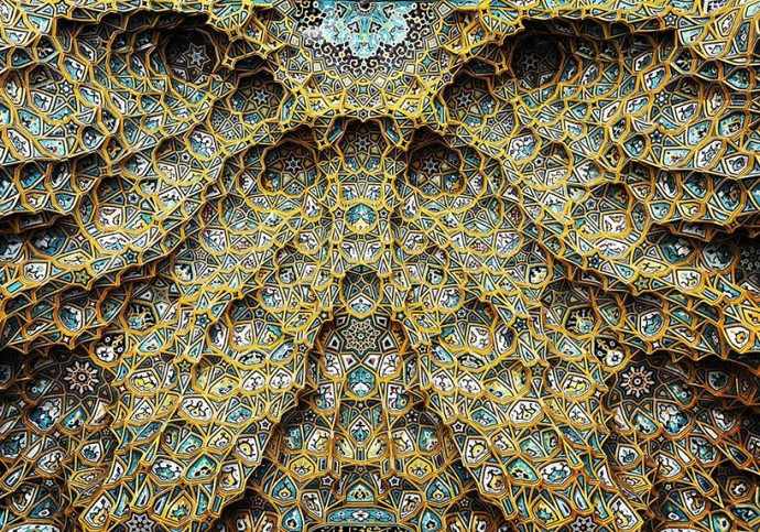 Узоры на потолках в зданиях Ирана авиатур