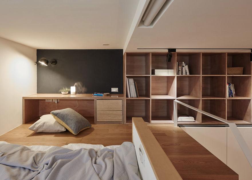 Как выжать максимум из минимума пространства: полнофункциональная квартира на Тайване площадью всего 22 квадратных метра интерьер и дизайн