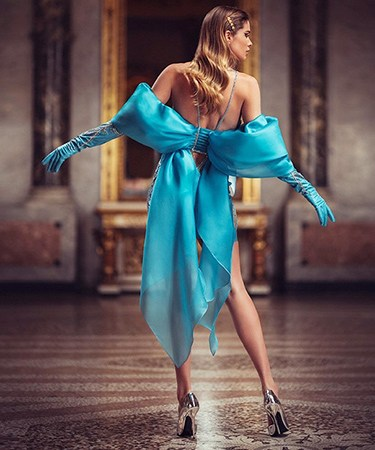 Нереально шикарно - великолепные вечерние платья от Atelier Versace atelier versace весна-лето 2019