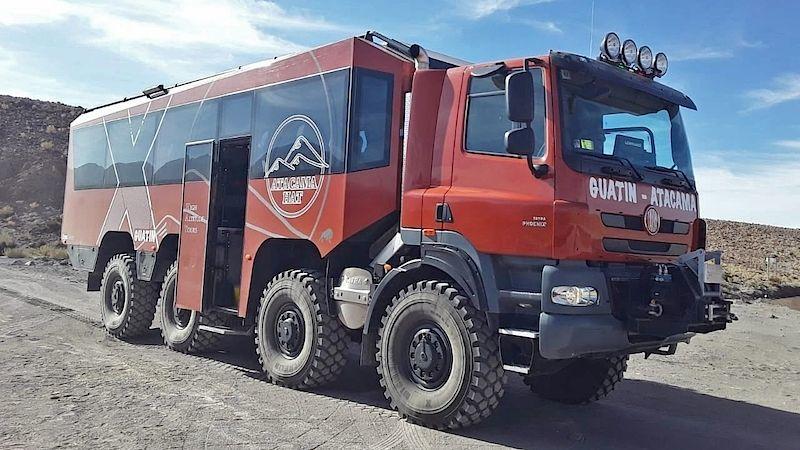 Из грузовика Tatra построили туристический автобус 8х8 tatrabus