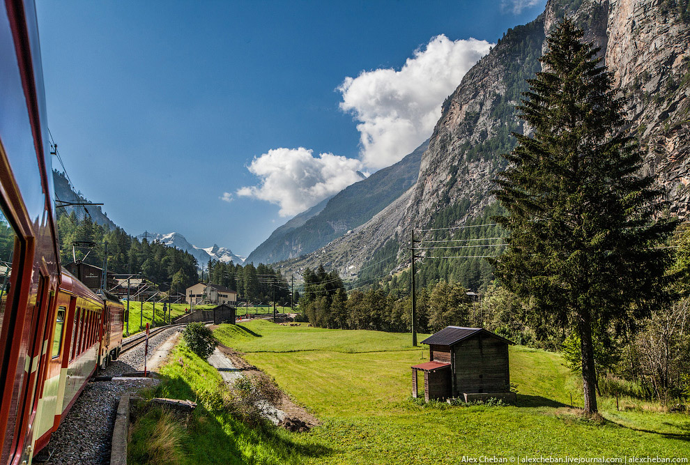 Самые красивые в мире железные дороги: Швейцария европа