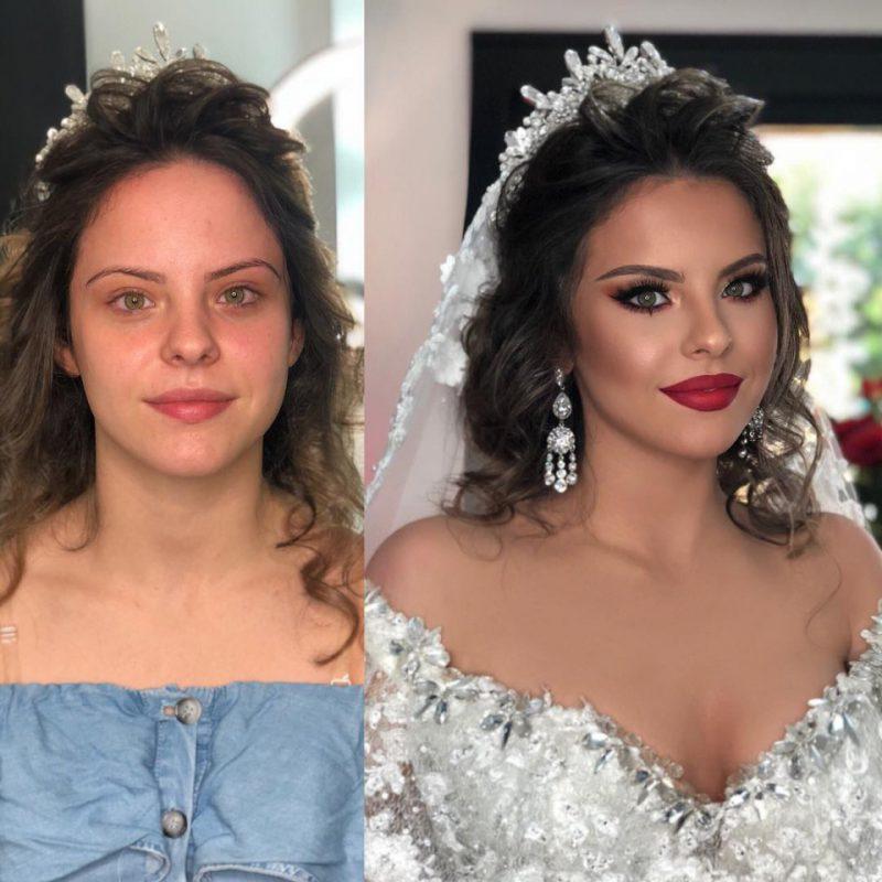 От Золушки к принцессе: удивительные превращения в невест с помощью макияжа интересное